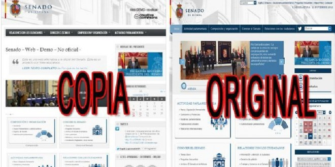Web open Source del Senado